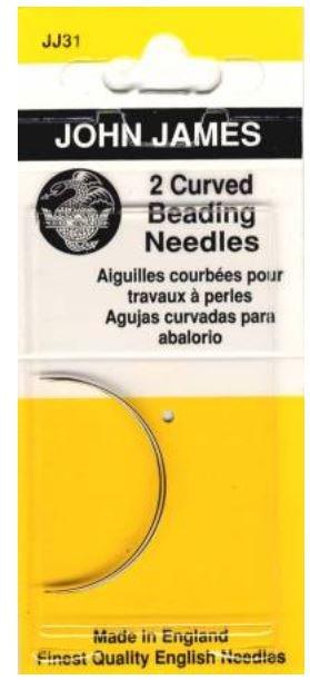 JJ311 John James Curved Beading Needles 2 count