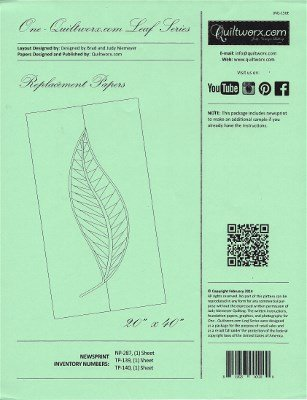 JNQ156E Judy Niemeyer Leaf Series One Replacement Papers