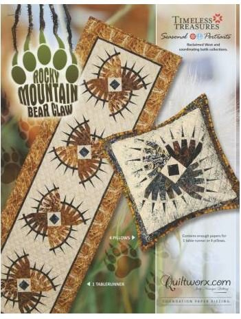 JNQ188P Judy Niemeyer Rocky Mountain Bear Claw Table Runner
