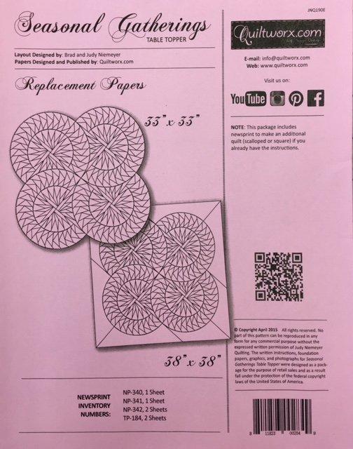 JNQ190E Judy Niemeyer Seasonal Gathering Replacement Papers