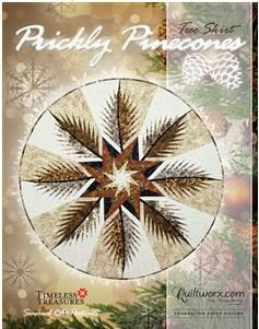 JNQ192P Judy Niemeyer Prickly Pinecones Tree Skirt or Table Topper