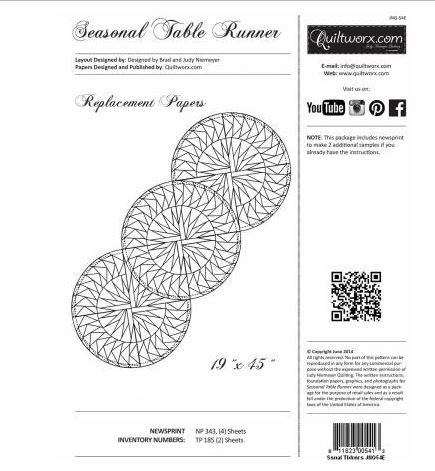 JNQ54E Judy Niemeyer  Seasonal Table Runner Replacement Papers