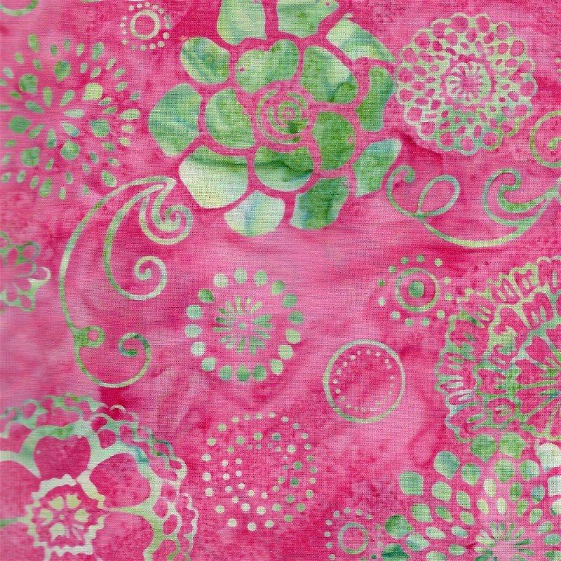 K2477-12 Hoffman of California Bali Chops Graphic Floral Pink