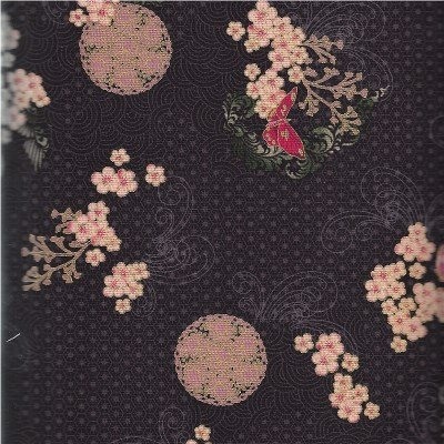 K7141-4G Asian Peony Black Gold