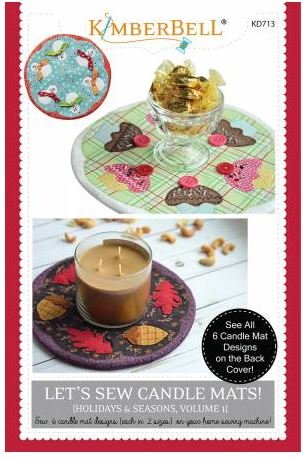 KD713 Let's Sew Candle Mats KimberBell