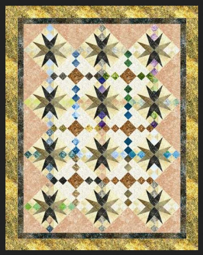 KMQ-235 Cactus Flower Kate Mitchell Quilts