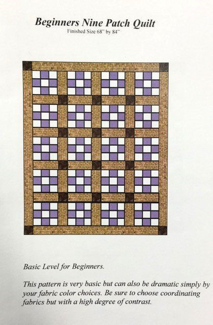 KQ076, Keama's Quilts, Beginners Nine Patch Pattern