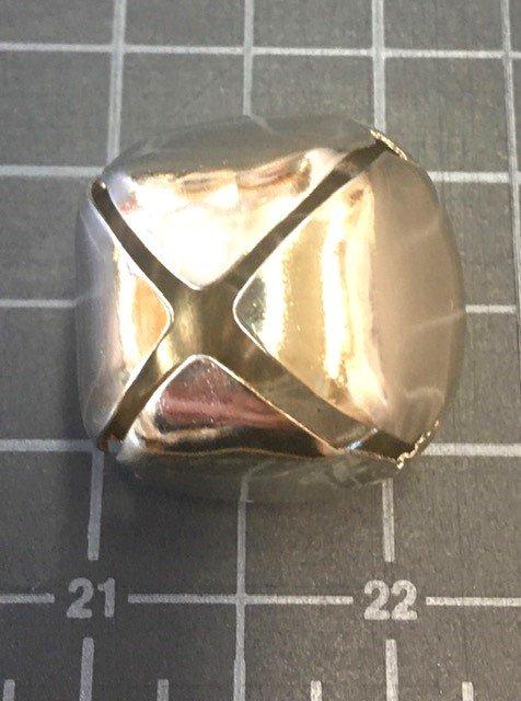 KQN00S1, Keama's Giant Jingle Bells Pk of 6 Silver