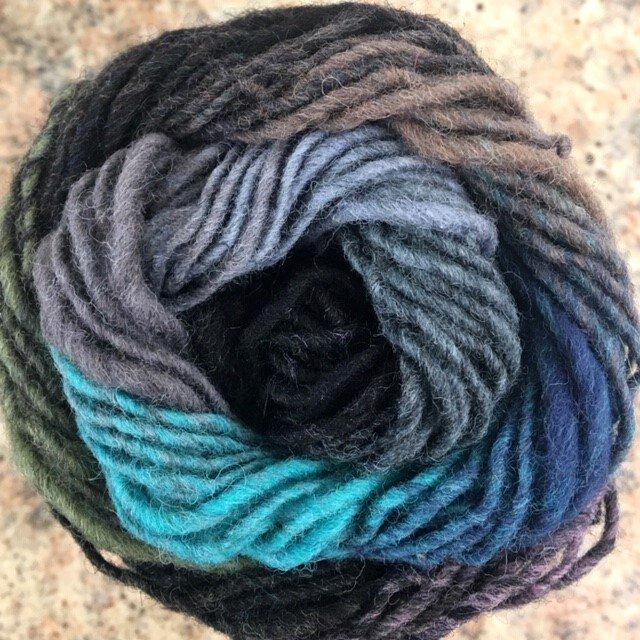 KUREY258 Noro Kureyon  100% Wool 50 gr 100 meter US 7-8 needle