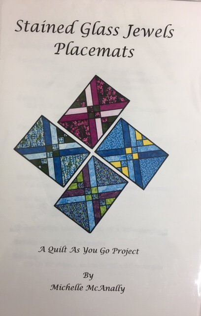 LHQ002 Lighthouse Quilts Stained Glass Jewels Place Mats