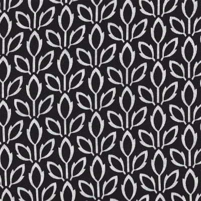 LILY-C6217BLK Timeless Treasures Leaves Black