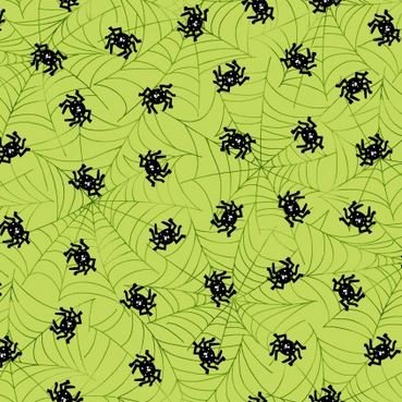 MAS8214-G Maywood Mind Your Mummy Green Spiders & Webs