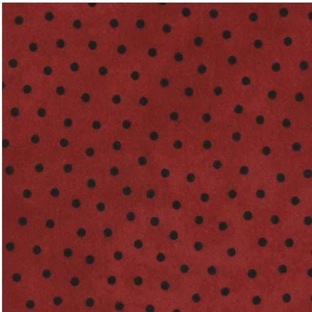 MASF18506-R Maywood Woolies Flannel Red with Black Dots