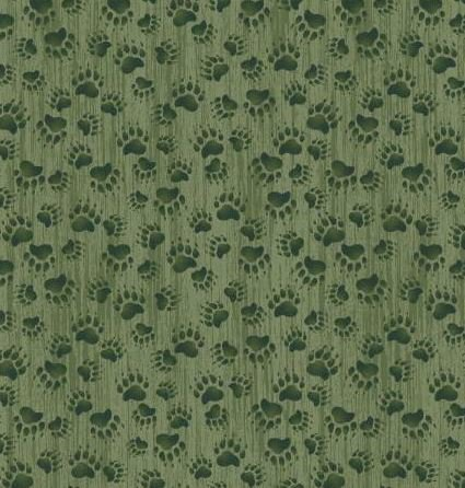 MOOS477-G P & B Textiles Moose Meadows Flannel Green Bear Prints