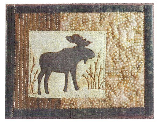 Moose-Willows On the Trail Creations Quilted Card Kit