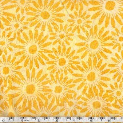 N2851-149 Hoffman of California Batik Sun Yellow Daisy