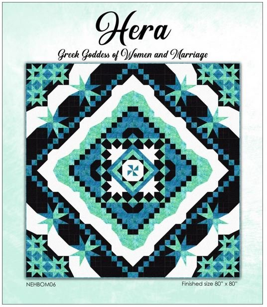 NEHBOM06 Needle in a Hayes Stack Hera 6 Part BOM Quilt Pattern Set