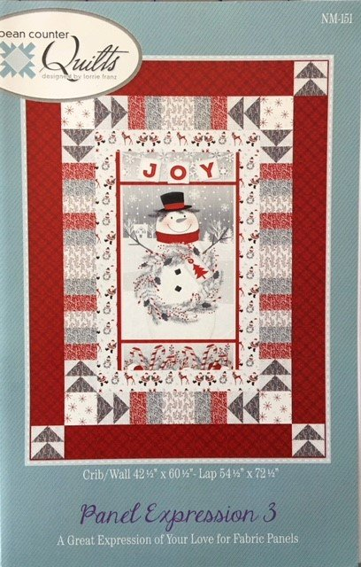 NM-151 Bean Counter Quilts Panel Expression 3 two sizes