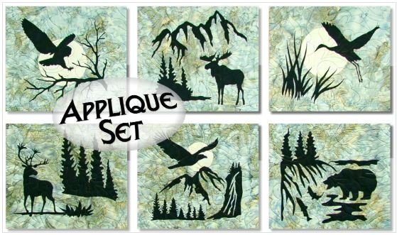 NTWILDWOODAPP Northern Threads Wildwood Pre-Fused, Laser Cut Fabric Applique Set