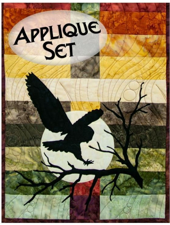 NTWOODLANDOWL Northern Threads Wildwood Applique Runner Kit Owl, Moon, and Branch
