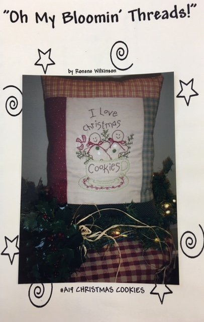 OMBTA19 Oh My Blooming Threads Hand Embroidery Christmas Cookies