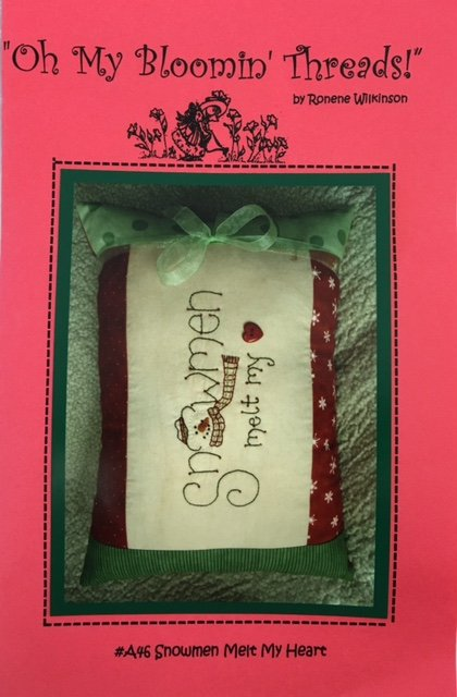 OMBTA46 Oh My Blooming Threads Hand Embroidery Snowmen Melt My Heart