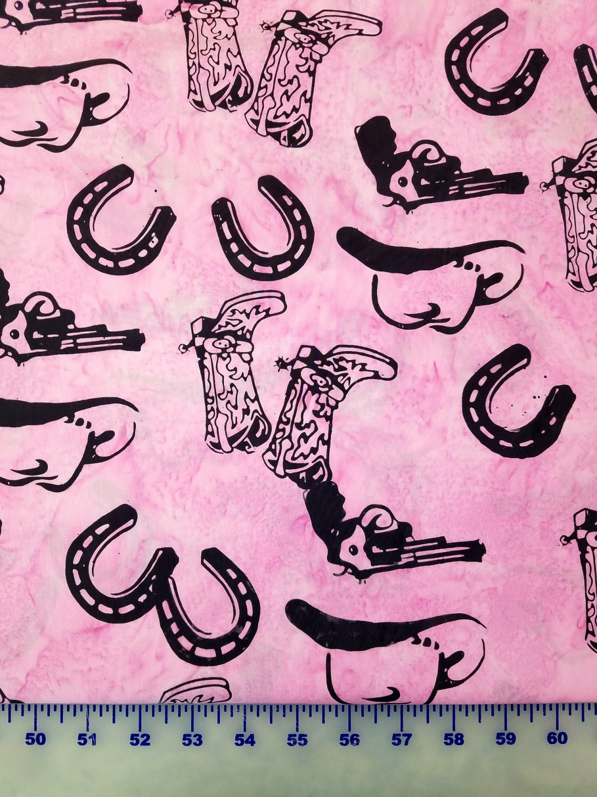 P2080-482 Hoffman of California Cowboy Boots Pistols Horseshoes on Pink