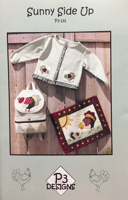 P3-131 P3 Designs Sunny Side Up; Jacket Purse and Wallhanging