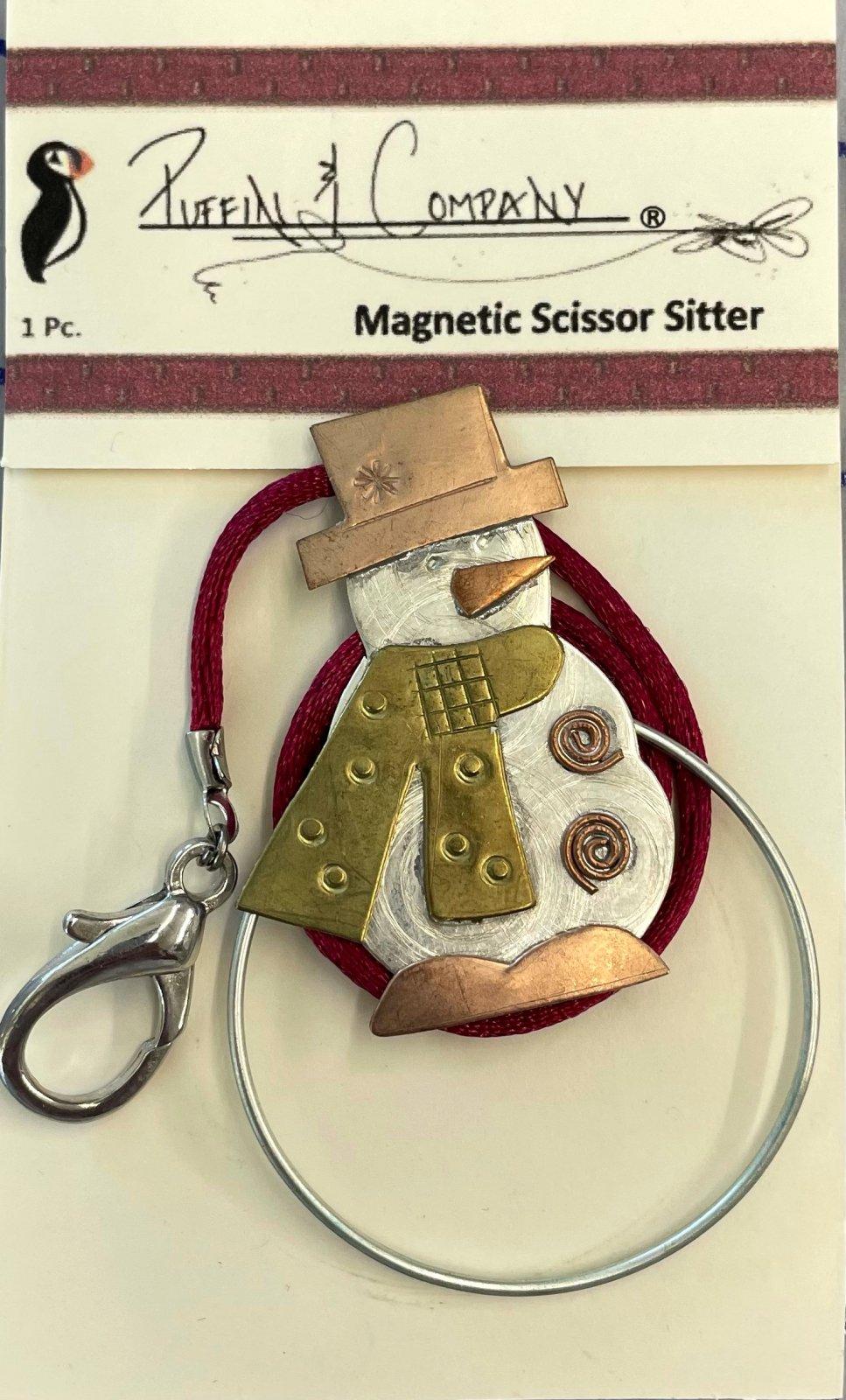 PC0630 Puffin Scissor Sitter Snowman