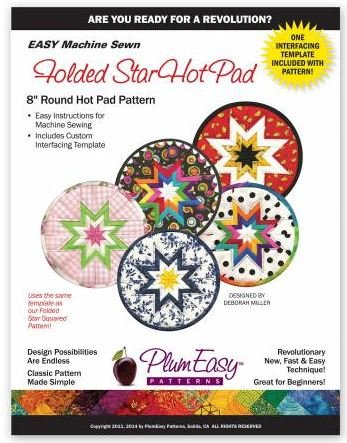 PEP-101 Plum Easy Folded Star Hot Pad Pattern 8 Circle