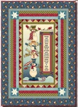 PRECIOUS1 Henry Glass Snowman Quilt 53 x 73