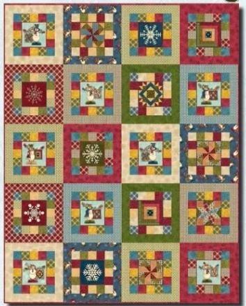 PRECIOUS2 Henry Glass Snowman Quilt 56 x 70
