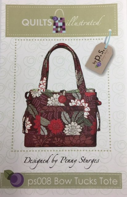 PS008 Quilt's Illustrated Bow Tucks Tote Purse Pattern