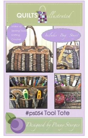 PS054 Quilts Illustrated Tool Tote with Stays