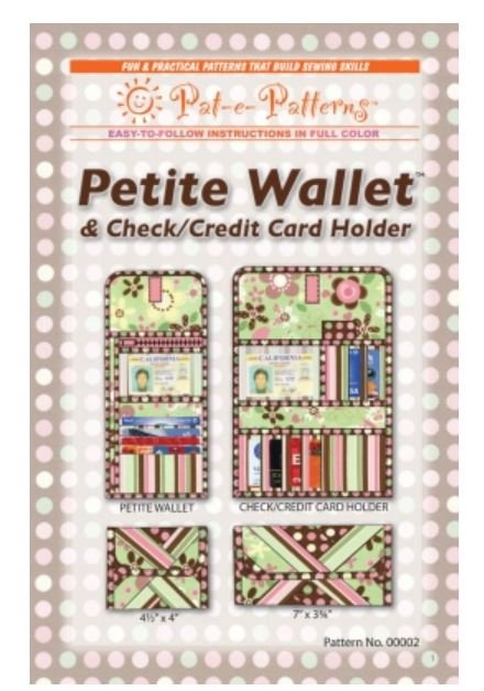 PEP00002 Pat-e-Patterns Petite Quilters Wallet & Checkbook Cover Pattern