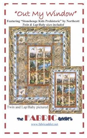 Fabric Addict Out My Window Kit Includes Pattern Twin PTN1248KITTWIN