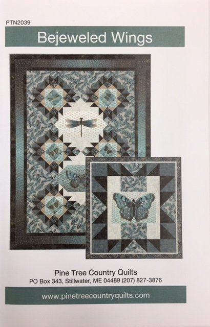 PTN2039 Pinetree Country Bejeweled Wings Quilt pattern 2 sizes