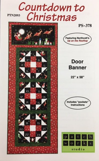 PTN2093KIT  Patchworks Studio Door Banner 22 x 58 Event Calendar