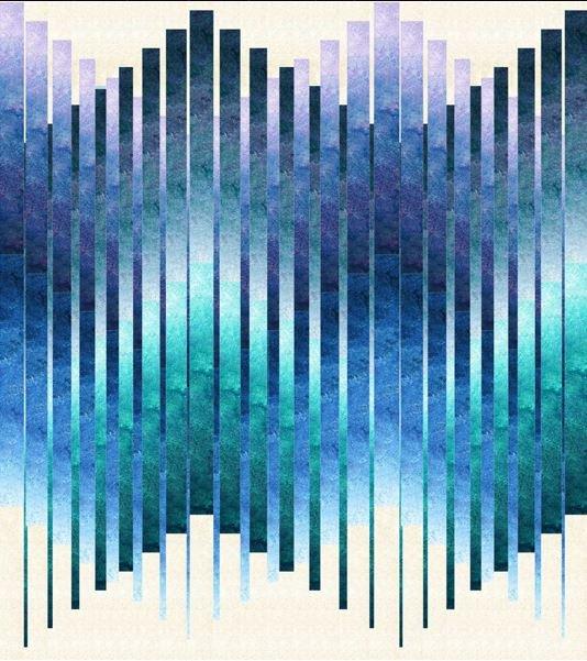 PTN2410 Patti's Patchwork, Good Vibrations, By Patti Carey 94 x 104 (or 114 x 104)