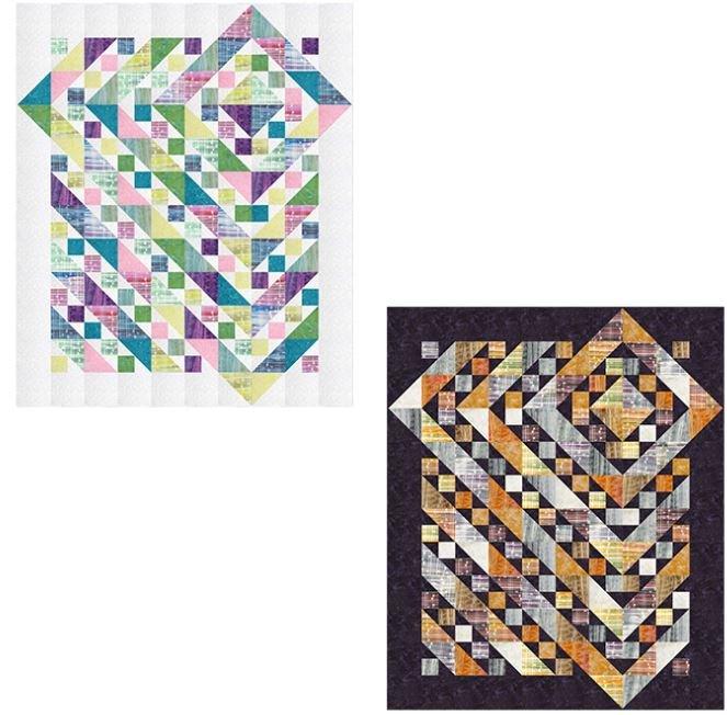 0090KIT  Diamonds Quilt by Ladeebug Design, 60 x 72