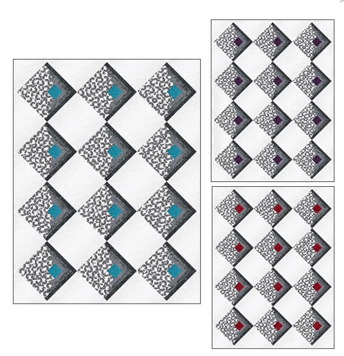 PTNB0102 Ladeebug Design Right on Point Quilt pattern 53 x 70