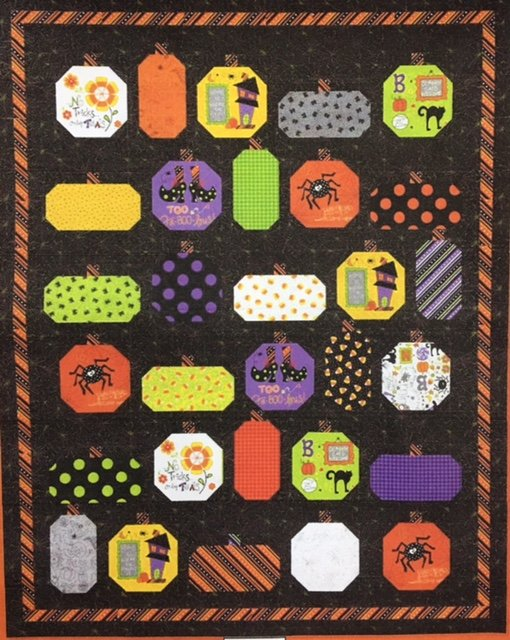 PUMPPARDKIT Keama's Pumpkin Parade Kit 52-1/2 x 66 pattern included