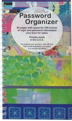 PWB02, Password Organizer Book