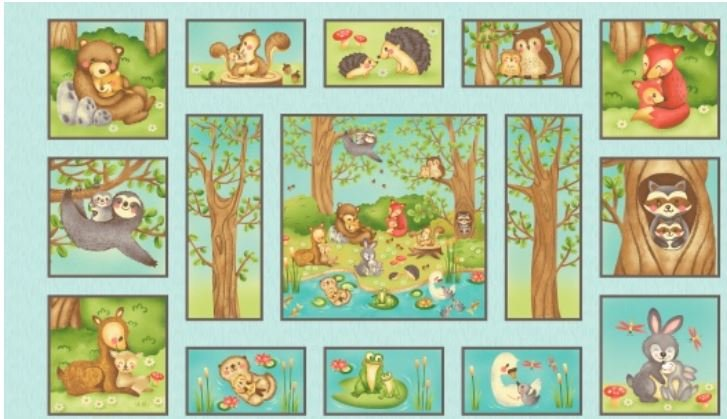 Q2159-11 Henry Glass Hugs and Love Panel 24in by WOF
