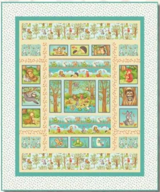 Q2159KIT Henry Glass Hugs and Love Quilt 56in by 69in