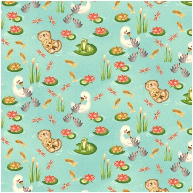 Q2163-11 Henry Glass Hugs and Love Small Allover Print