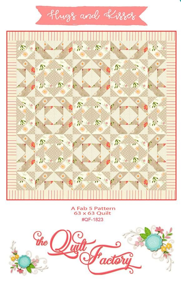 QF-1823 Quilt Factory Hugs and Kisses 64 inch square