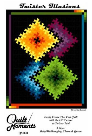QM131 Quilt Moments Twister Illusion Quilt 3 sizes