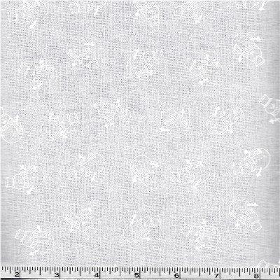 RAMH-752W P&B Textiles Ramblings White-on-White Snowmen