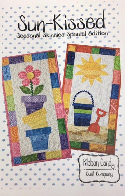RCQ577 Ribbon Candy Quilt Co. Sun Kissed 14 x 28 Seasonal Skinnies Pattern